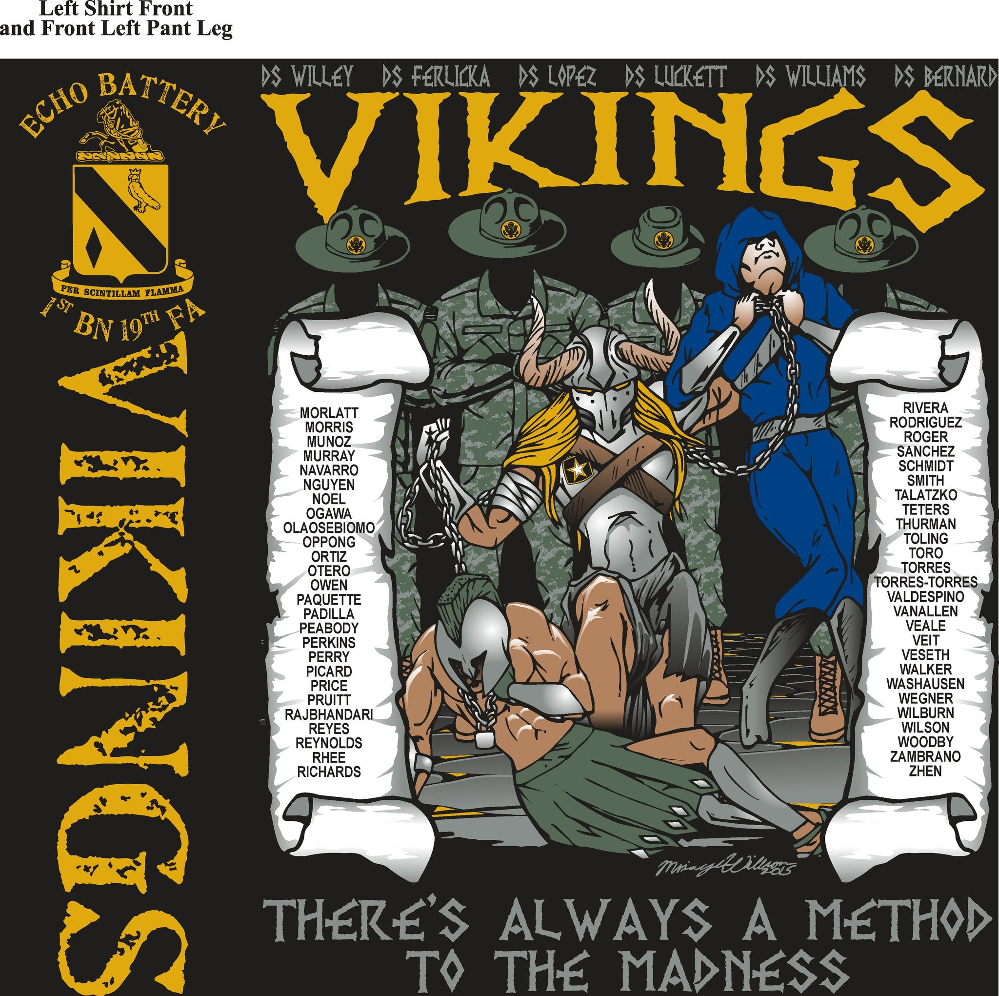 Platoon Shirts ECHO 1st 19th VIKINGS JUNE 2015