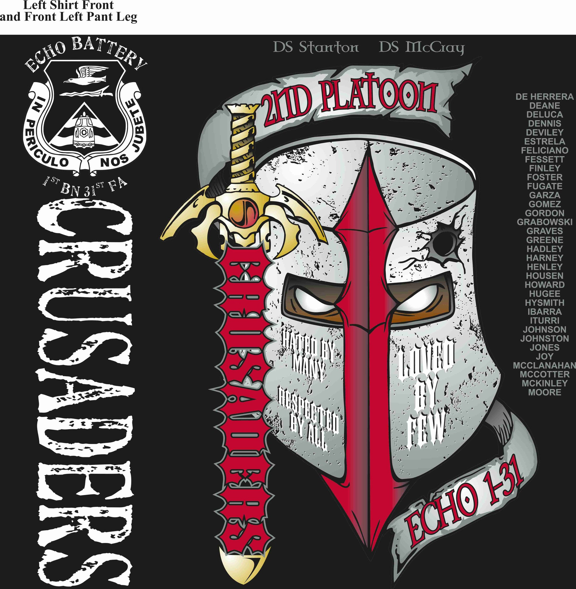 PLATOON SHIRTS ECHO 1st 31st CRUSADERS NOV 2015