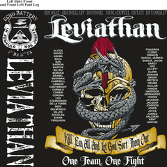 Platoon Shirts (2nd generation print) ECHO 1st 31st LEVIATHAN JUNE 2018