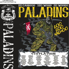 Platoon Shirts (2nd generation print) ECHO 1st 31st PALADINS AUG 2019