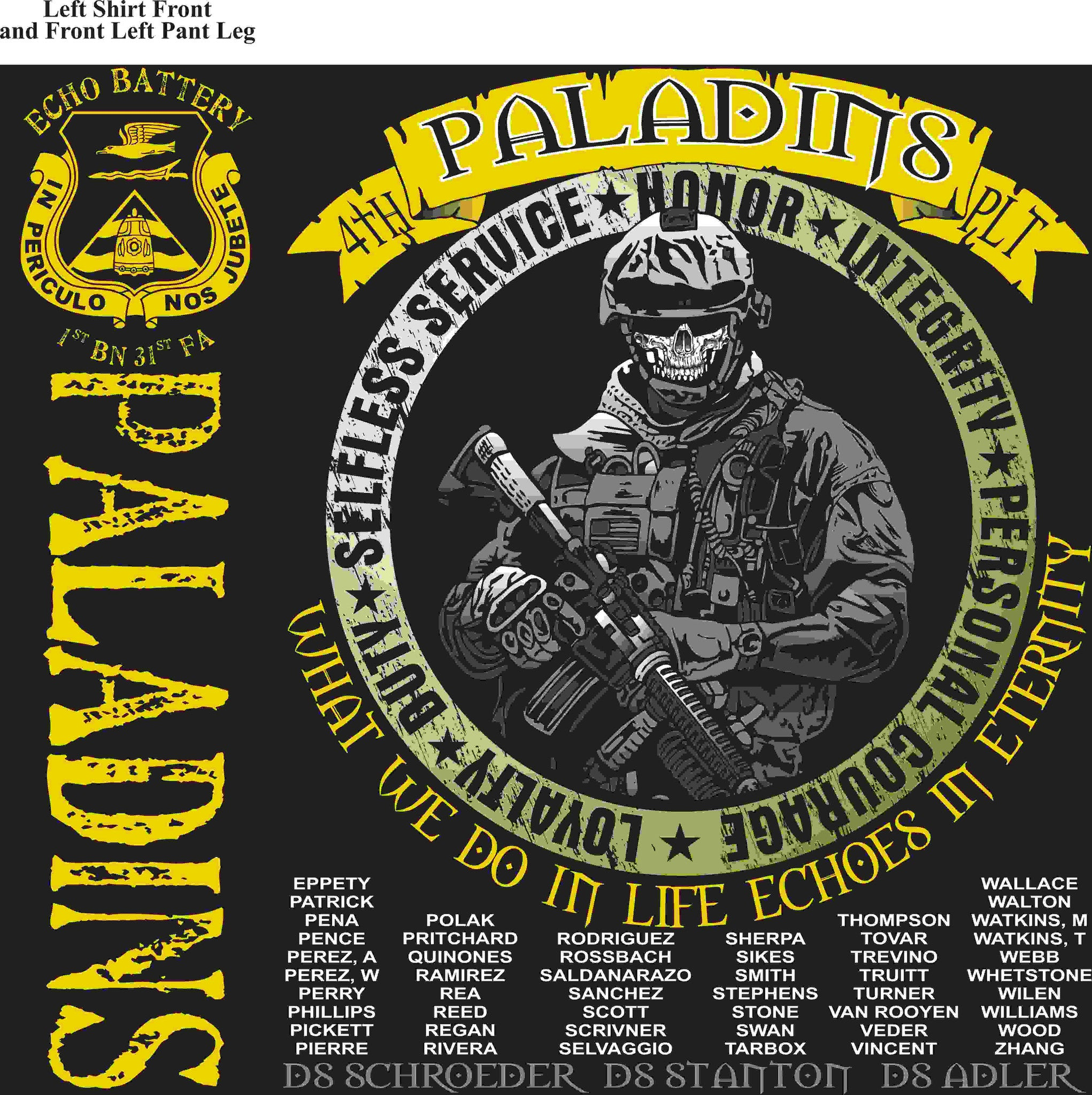 PLATOON SHIRTS (digital) ECHO 1st 31st PALADINS FEB 2016