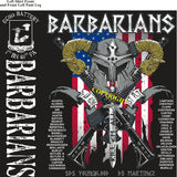 Platoon Shirts (2nd generation print) ECHO 1st 40th BARBARIANS NOV 2018