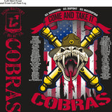 PLATOON SHIRTS (2nd generation print)  ECHO 1st 40th COBRAS OCT 2016