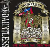 Platoon Shirts (2nd generation print) ECHO 1ST 40TH DAUNTLESS FEB 2018