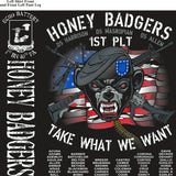 Platoon Shirts (2nd generation print) ECHO 1ST 40TH HONEY BADGERS NOV 2017