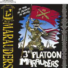 PLATOON SHIRTS (2nd generation print)  ECHO 1st 40th MARAUDERS OCT 2016