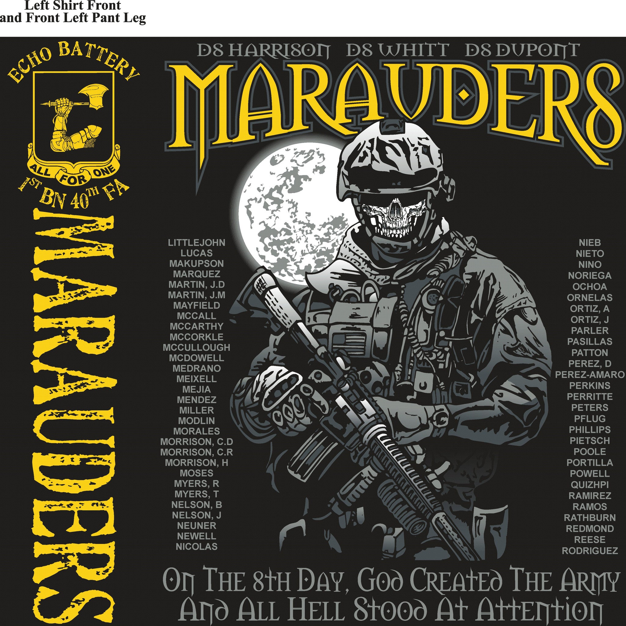 Platoon Shirts Echo 1st 40th MARAUDERS OCT 2015