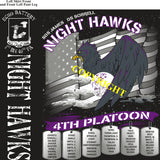 Platoon Shirts (2nd generation print) ECHO 1st 40th NIGHT HAWKS APR 2019