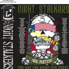 Platoon Shirts (2nd generation print) ECHO 1st 40th NIGHT STALKERS DEC 2019