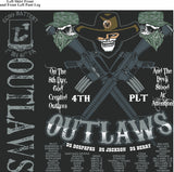 Platoon Shirts ECHO 1st 40th OUTLAWS JULY 2015
