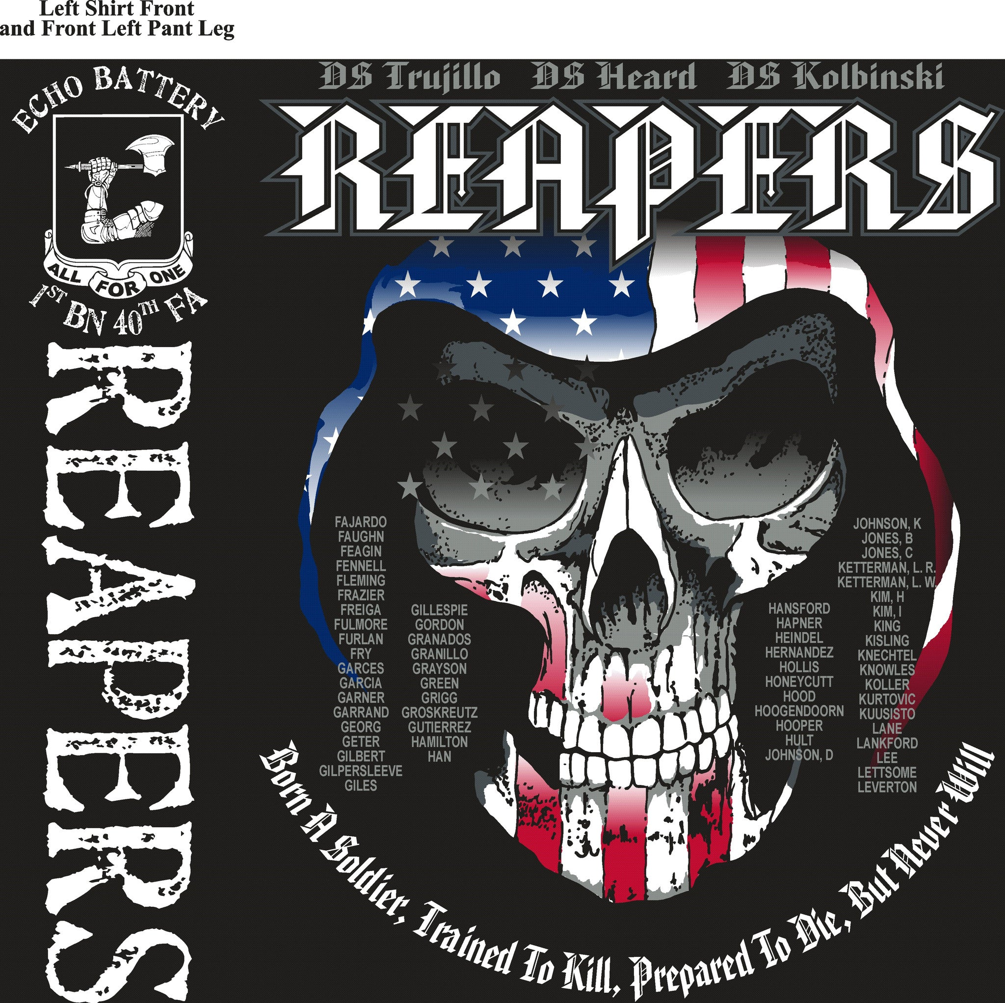 Platoon Shirts Echo 1st 40th REAPERS OCT 2015