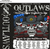 Platoon Shirts ECHO 1st 79th OUTLAWS OCT 2015