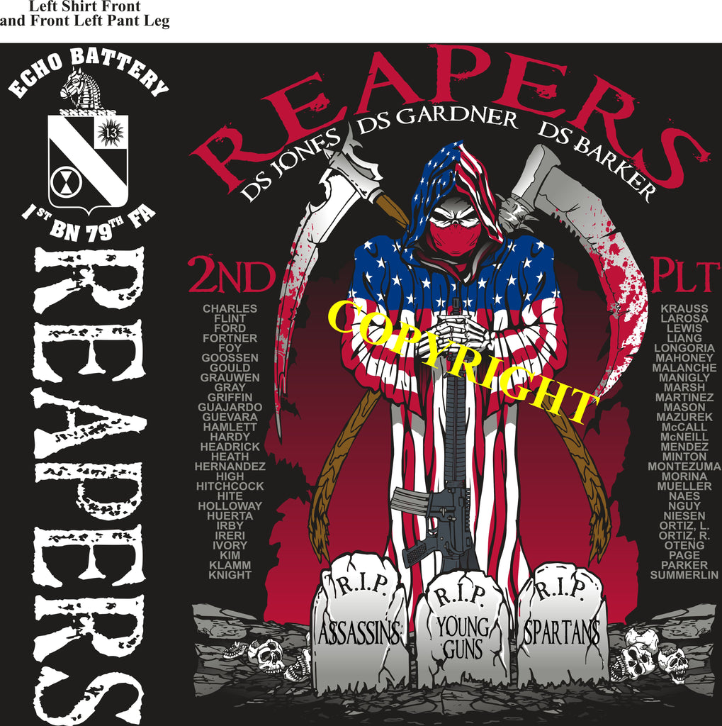 Platoon Shirts (2nd generation print) ECHO 1st 79th REAPERS MAR 2019