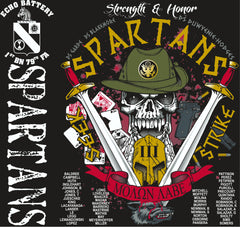 Platoon Shirts (2nd generation print) ECHO 1ST 79TH SPARTANS FEB 2018