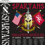Platoon Shirts (2nd generation print) ECHO 1st 79th SPARTANS NOV 2018