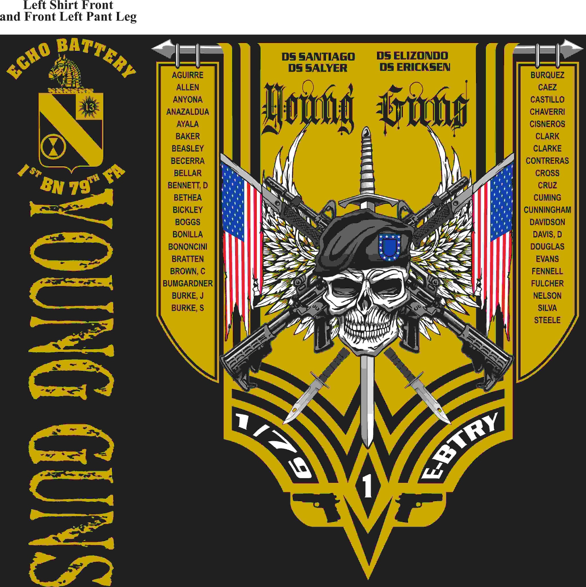PLATOON SHIRTS (digital) ECHO 1st 79th YOUNG GUNS FEB 2016