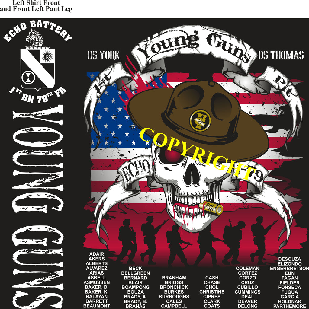 Platoon Shirts (2nd generation print) ECHO 1st 79th YOUNG GUNS MAR 2019