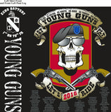 PLATOON SHIRTS (2nd generation print) ECHO 1st 79th YOUNG GUNS OCT 2016