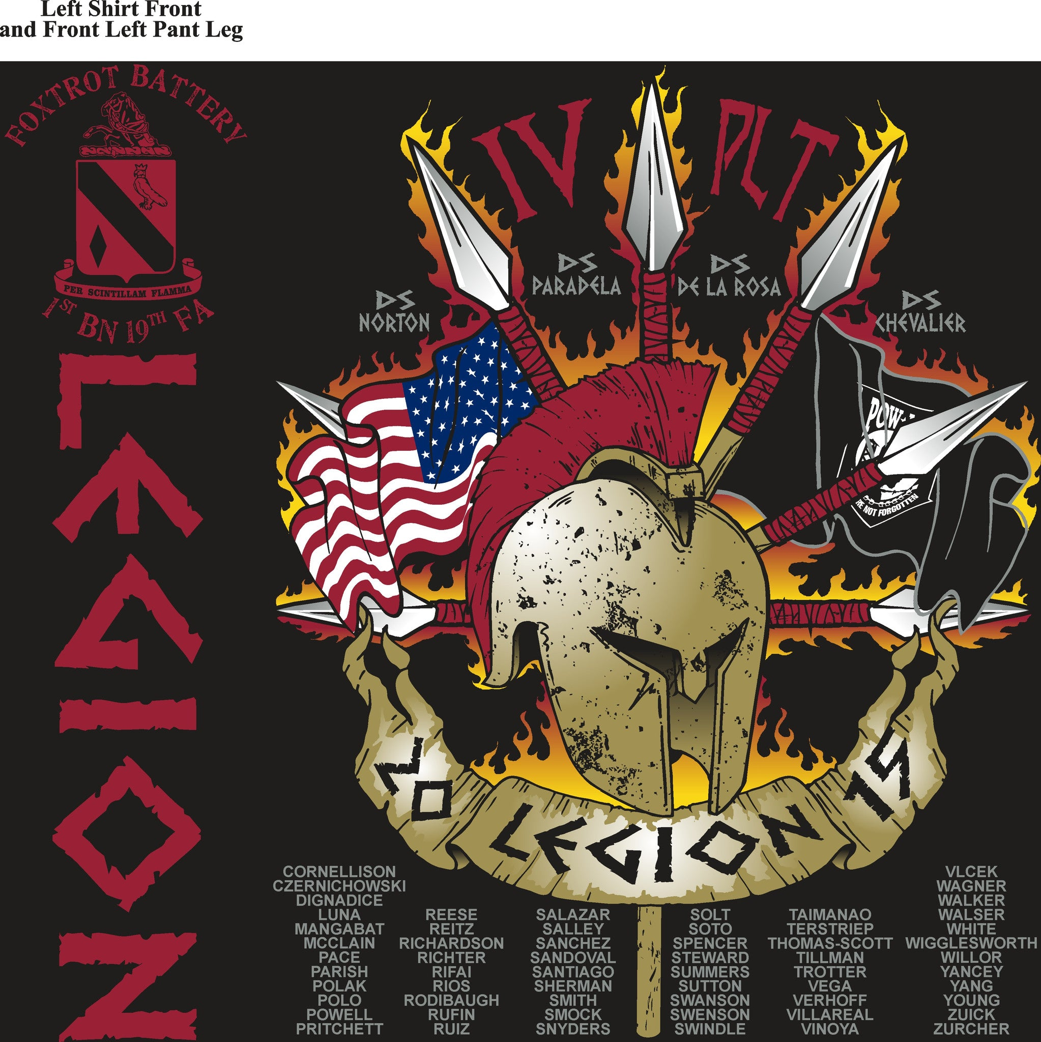 Platoon Shirts FOX 1st 19th LEGION MAY 2015