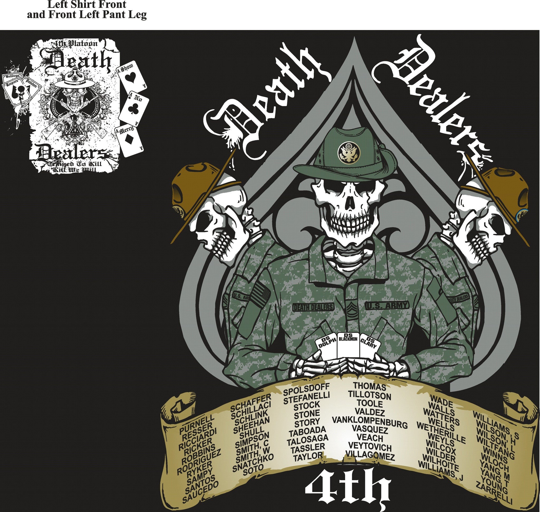 Platoon Shirts FOX 1st 40th DEATH DEALERS AUG 2015