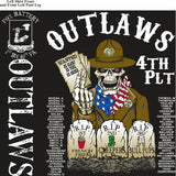 PLATOON SHIRTS (2nd generation print) FOX 1st 40th OUTLAWS AUG 2016
