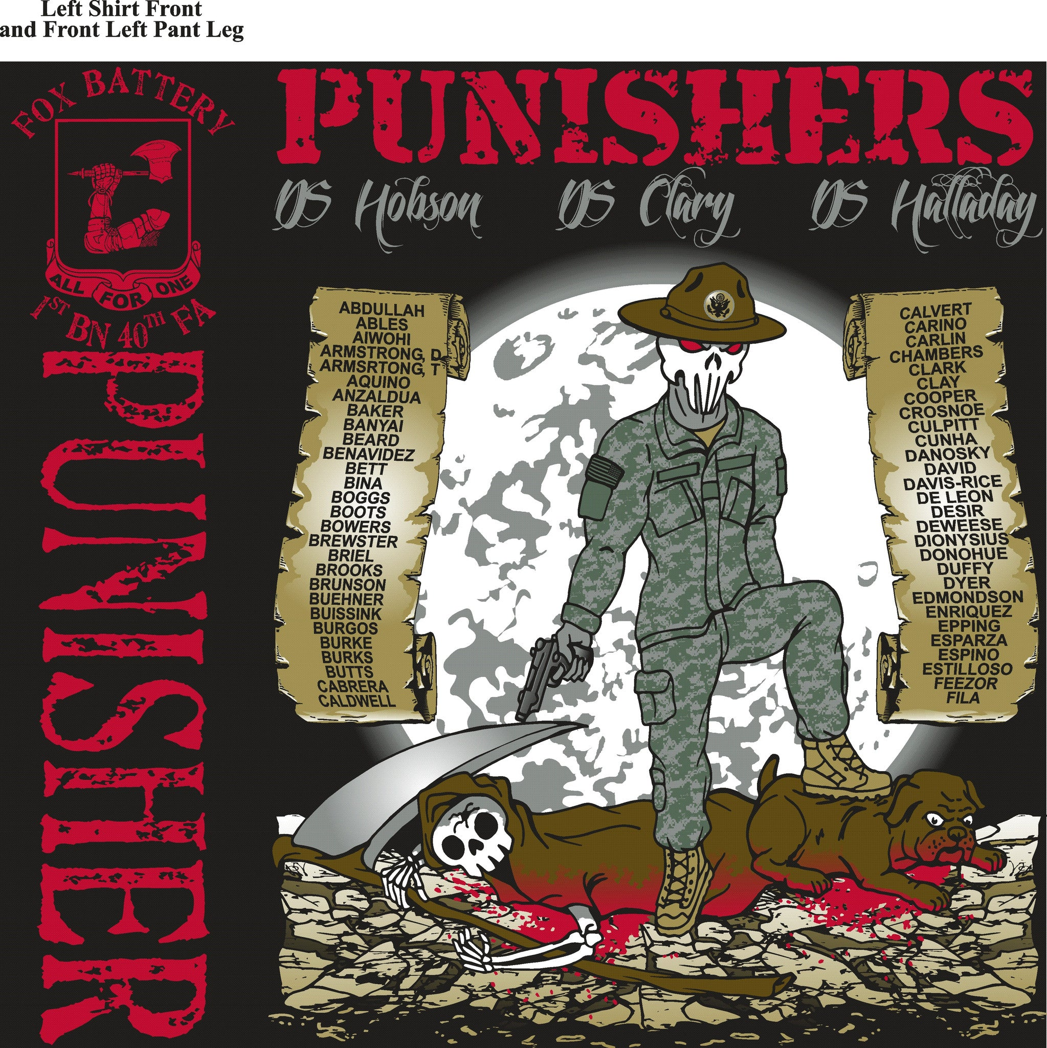 Platoon Shirts (digital) FOX 1st 40th PUNISHERS NOV 2015