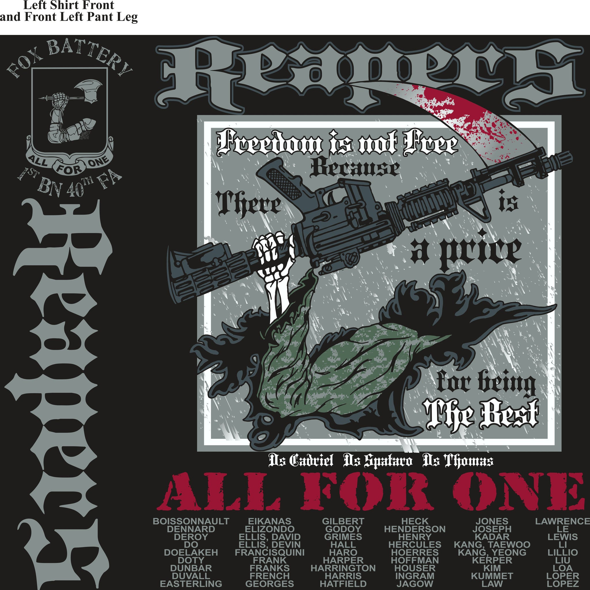 PLATOON SHIRTS (digital) FOX 1st 40th REAPERS FEB 2016