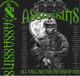 PLATOON SHIRTS (2nd generation print) FOX 1st 79th ASSASSINS MAR 2016