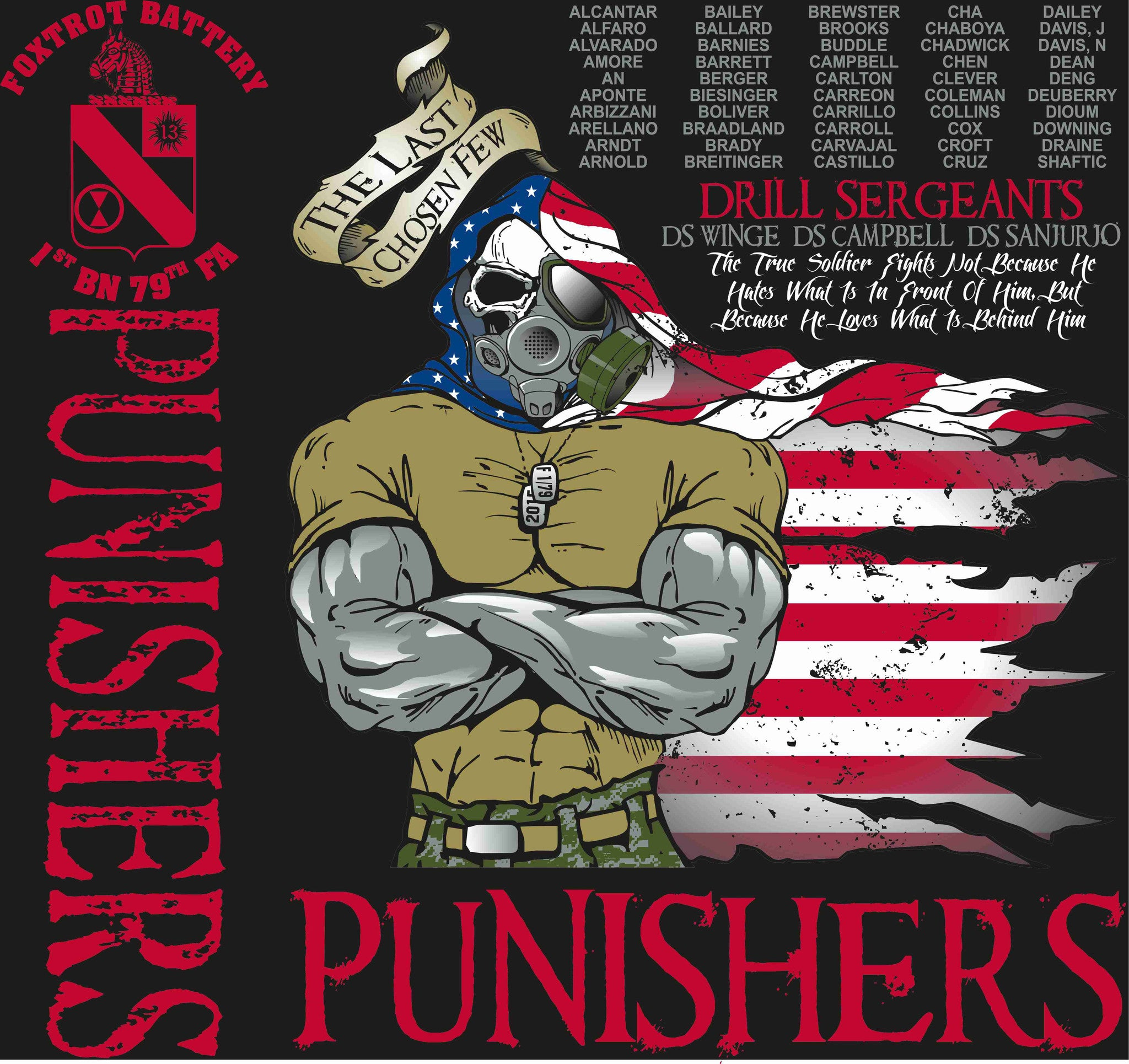 PLATOON SHIRTS (digital) FOX 1st 79th PUNISHERS DEC 2015