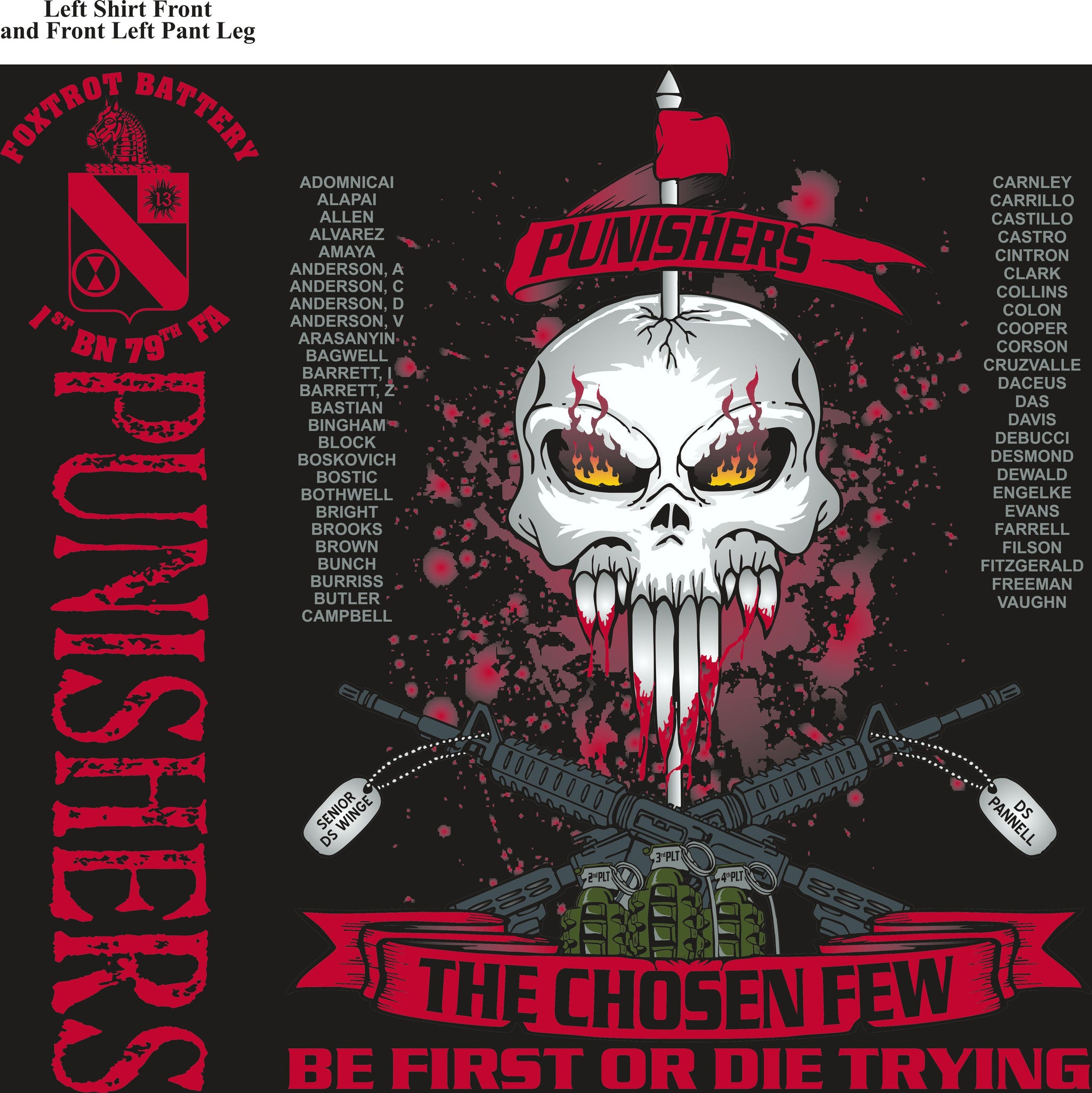 Platoon Shirts Fox 1st 79th PUNISHERS MAR 2015