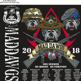 Platoon Shirts (2nd generation print ) ALPHA 1ST 31ST MAD DAWGS MAR 2018