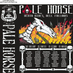 Platoon Shirts (2nd generation print ) ALPHA 1ST 31ST PALE HORSE MAR 2018