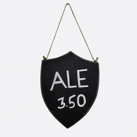 Shield Hanging Chalk Sign LARGE