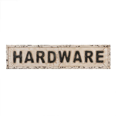 Hardware Sign - Metal Black and White