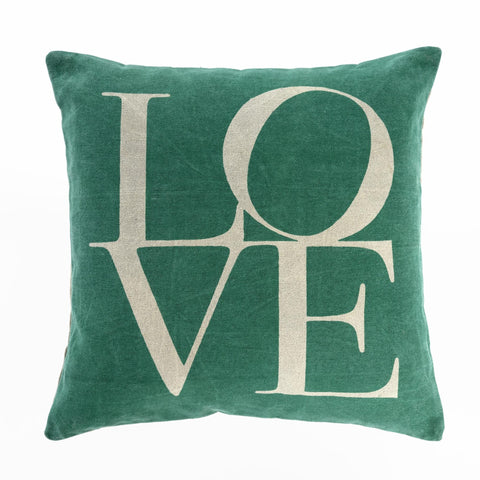 Love Cushion Pillow Turquoise 20x20