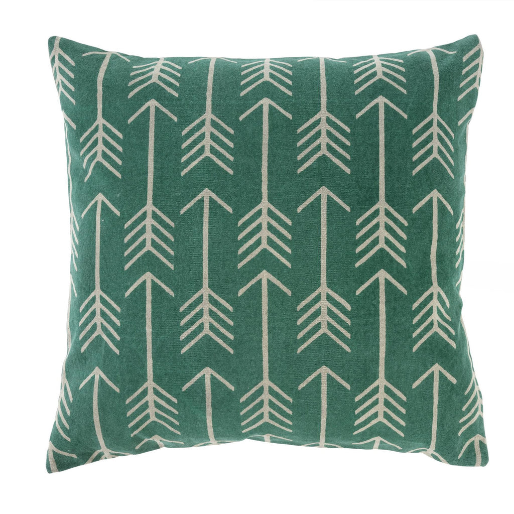 Arrow Cushion Pillow Turquoise 20x20""