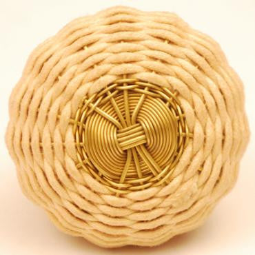 Thread and Wire weaved Knob - LARGE