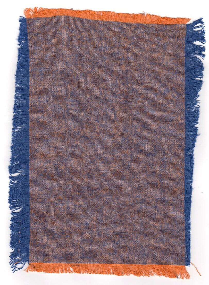 Coloured Linen - NAPOLEONIC BLUE + BARCELONA ORANGE