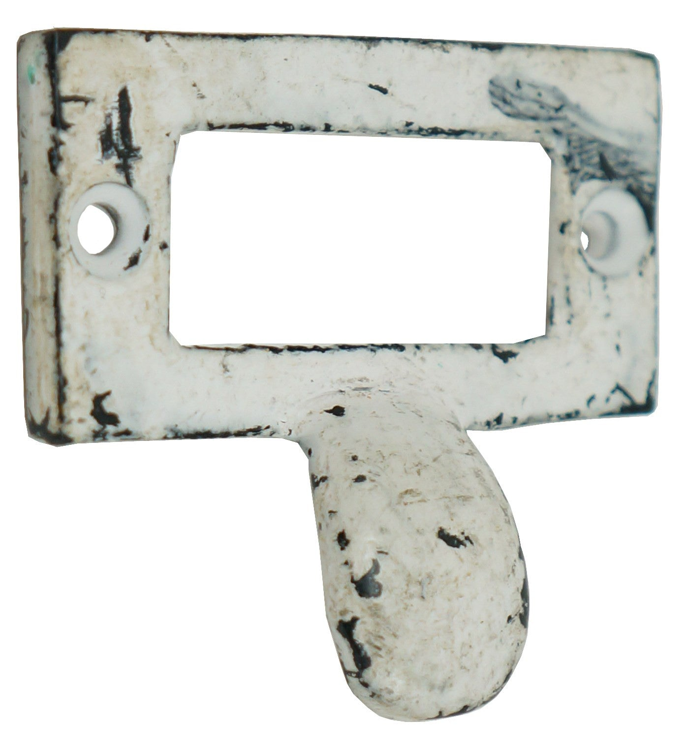 Rustic White Iron Label Pull