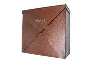 Rockford Square Mailbox - Copper Finish