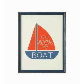 """You Rock My Boat"" wood Framed wall art"