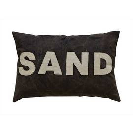"Canvas ""SAND"" applique Pillow/Cushion"