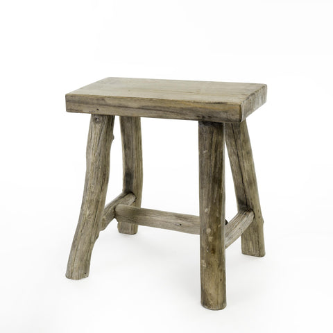 Wooden Branch Stool