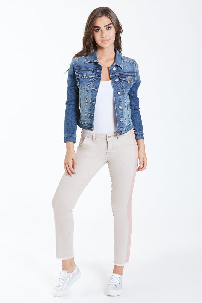 Alissa Denim Jacket - Lovington Wash - shopmagnolias