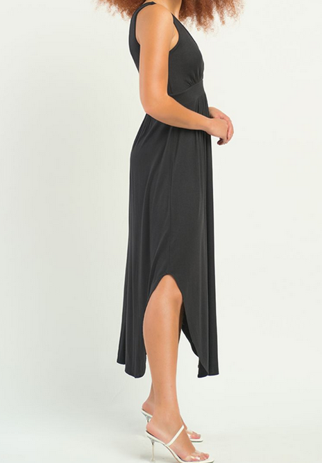 Hi-Lo Rounded Hem Dress