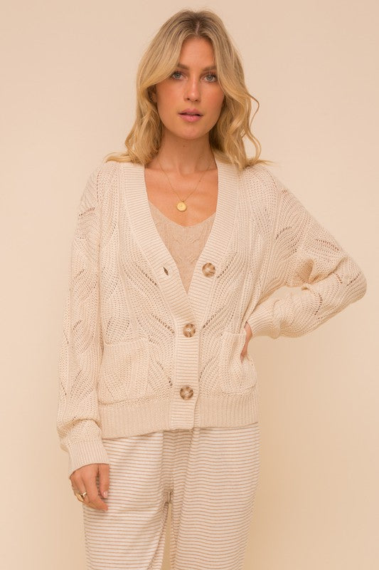 Textured Cardigan Natural