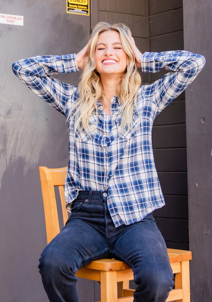 Snap Plaid Shirt