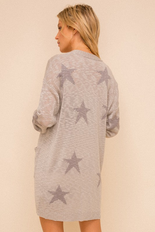 Star Sweater Cardigan