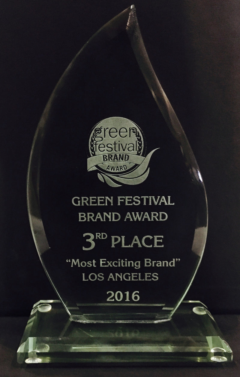 We won! Green Festival Brand Award!  Thank you all!