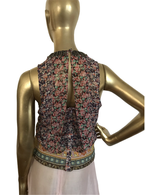Boho Chic Floral Sleeveless Top